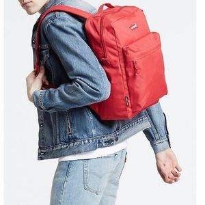"""Levi's L pack backpack red 15"""" laptop sleeve"""